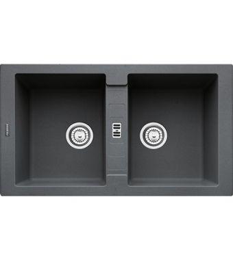 Franke Lavello due vasche Maris MRG 620 114.0066.687 finitura fragranite grafite da 86x50 cm
