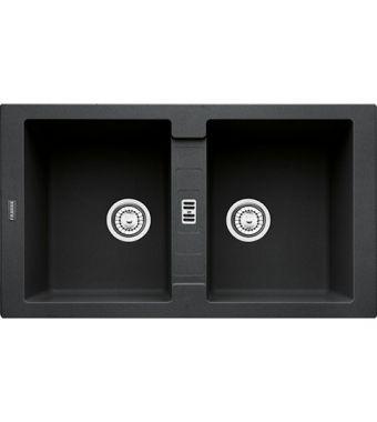 Franke Lavello due vasche Maris MRG 620 114.0157.497 finitura fragranite nero da 86x50 cm
