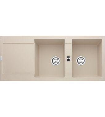 Franke Lavello due vasche con gocciolatoio Maris MRG 621 114.0066.717 finitura fragranite sahara da 116x50 cm