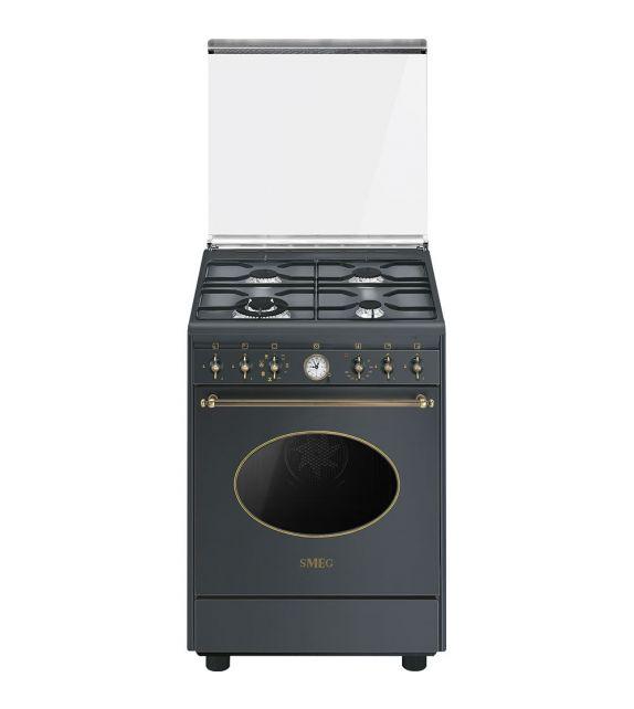 Smeg Cucina CO68GMA8 con forno termoventilato e piano cottura a gas finitura antracite da 60x60 cm