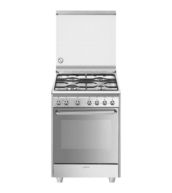 Smeg Cucina CX60SV9 con forno ventilato e piano cottura a gas finitura acciaio inox da 60x60 cm