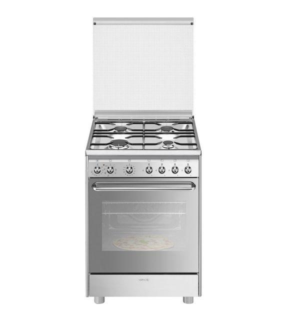 Smeg Cucina CX60SVPZ9 con forno termoventilato e piano cottura a gas finitura acciaio inox da 60x60 cm