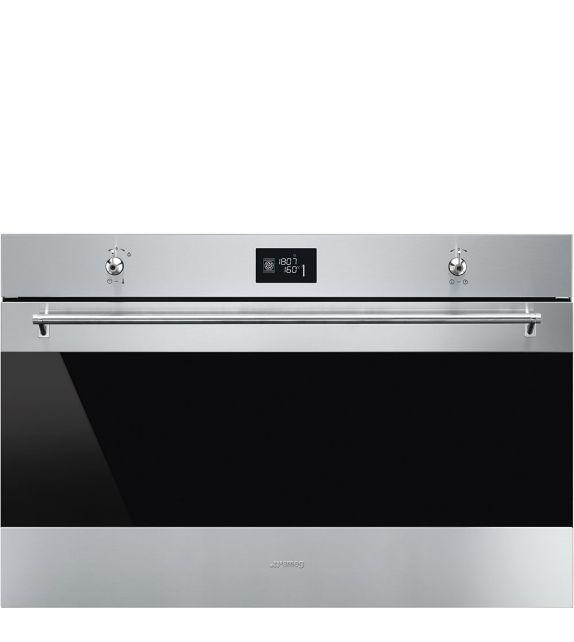 Smeg Forno termoventilato Vapor Clean SF9390X1 finitura acciaio inox da 90 cm