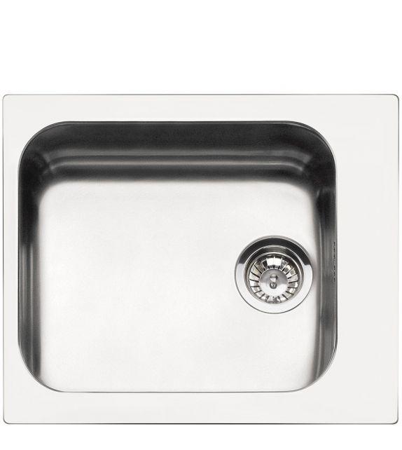 Smeg Lavello ad una vasca VS45-P3 finitura acciaio inox spazzolato da 58 cm