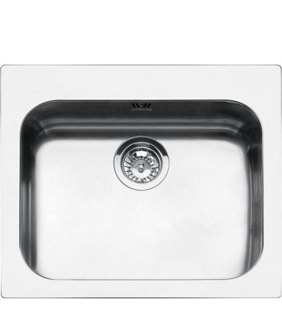 Smeg Lavello ad una vasca VS50P3 finitura acciaio inox da 58 cm