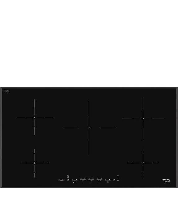 Smeg Piano cottura a induzione SI5952B finitura nero da 90cm