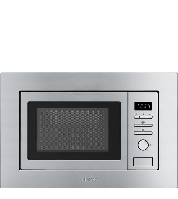 Smeg Forno microonde con grill da incasso FMI017X finitura acciaio inox da 60 cm