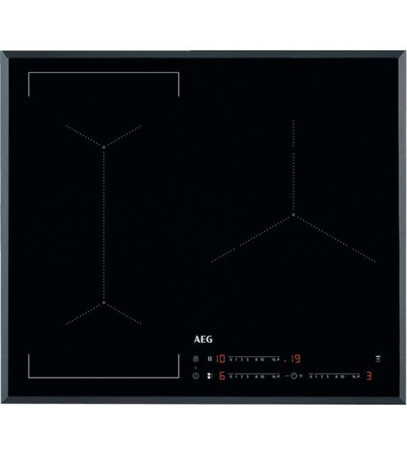 AEG Piano cottura a induzione Bridge IKE 63443 FB finitura vetroceramica nero bisellato da 60 cm