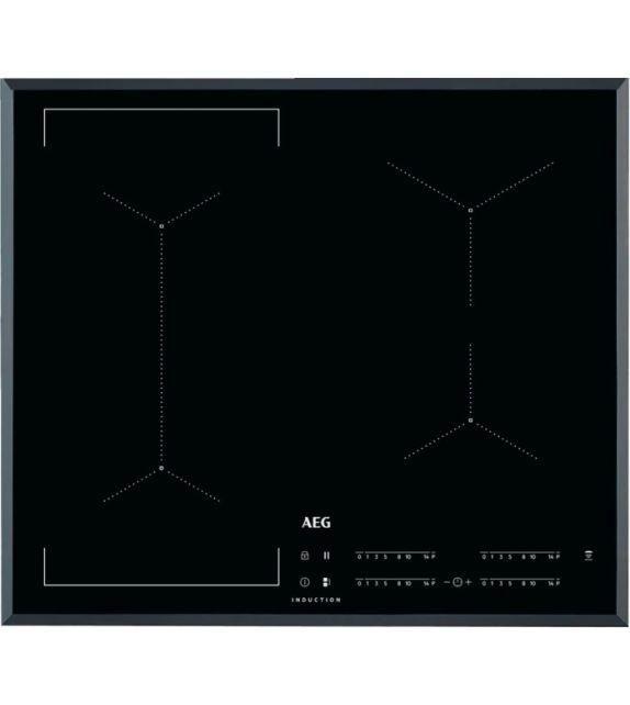 AEG Piano cottura a induzione Bridge IKE 64443 FB finitura vetroceramica nero bisellato 60 cm