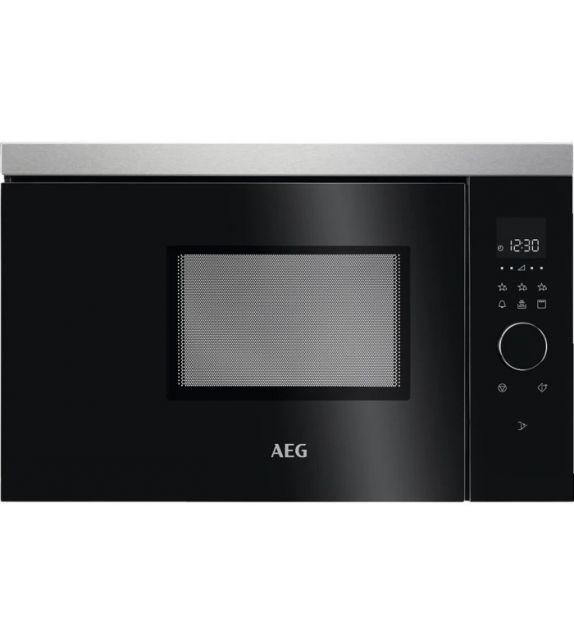 AEG Forno microonde compatto con grill MBB 1756 DEM con porta nera da 60 cm