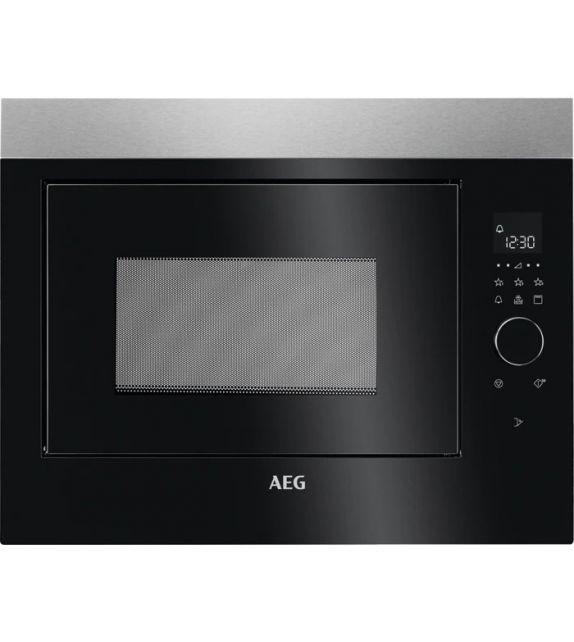 AEG Forno microonde compatto con grill MBE 2658 DEM con porta nera da 60 cm